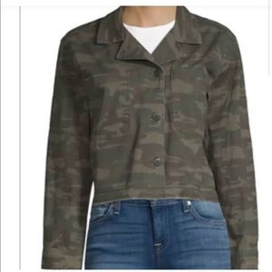 SANCTUARY Cropped Camouflage Jacket Size XS